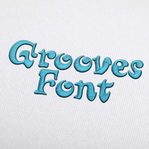 Grooves Font - Machine Embroidery Design Fonts Download