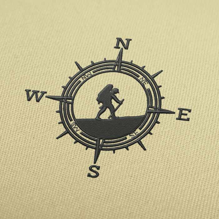 SWNE Compass Embroidery design for Instant Download