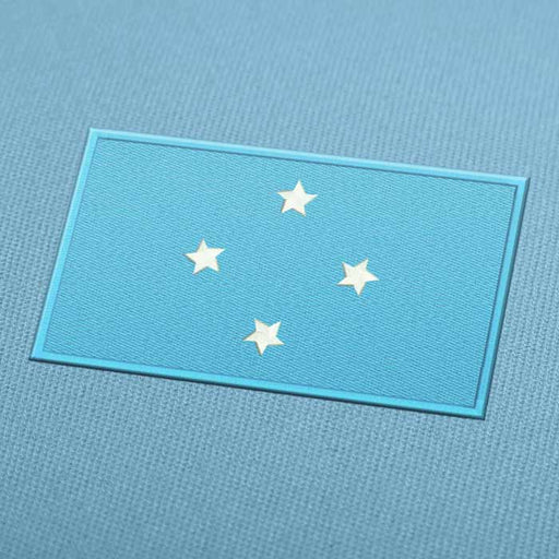 Micronesia Flag Embroidery Machine Design - Instant Download