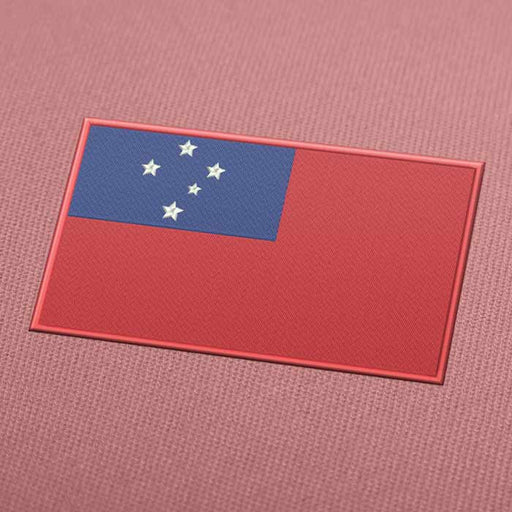 Samoa Flag Embroidery Machine Design - Instant Download