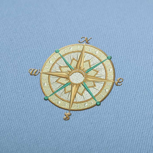 Vintage Compass Rose Embroidery design for Instant Download