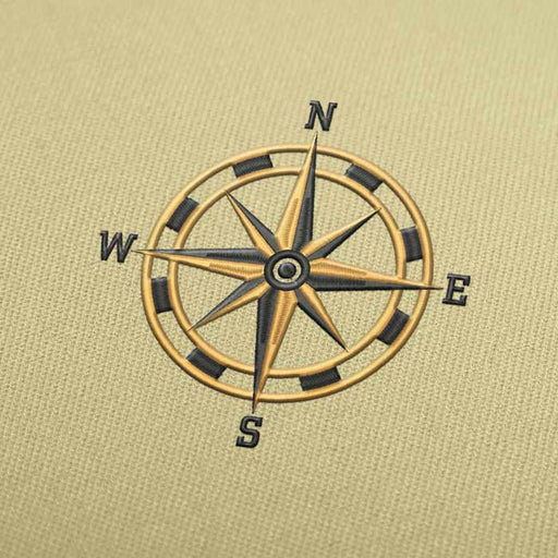 Compass Rose Embroidery Design for Download