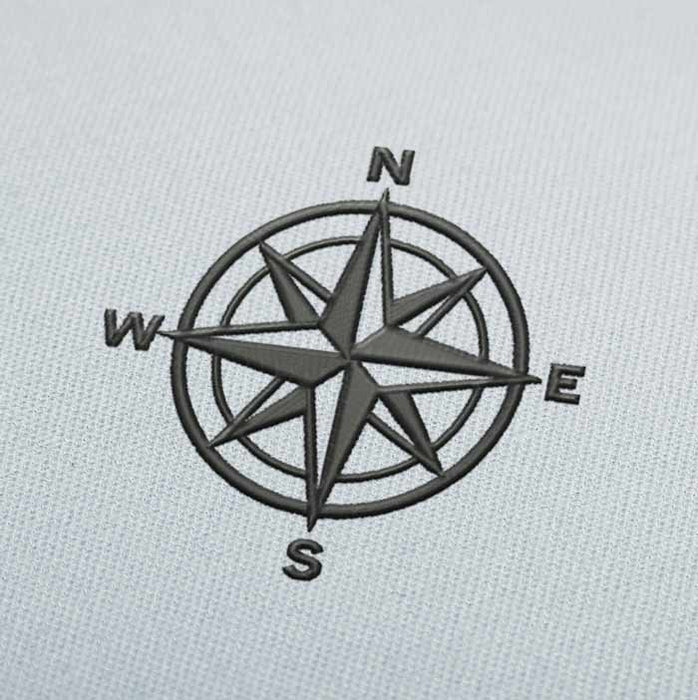 Compass Rose 2 Embroidery Design Download