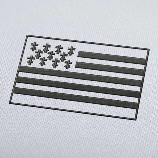 Bretagne Flag Embroidery Machine Design For Instant Download