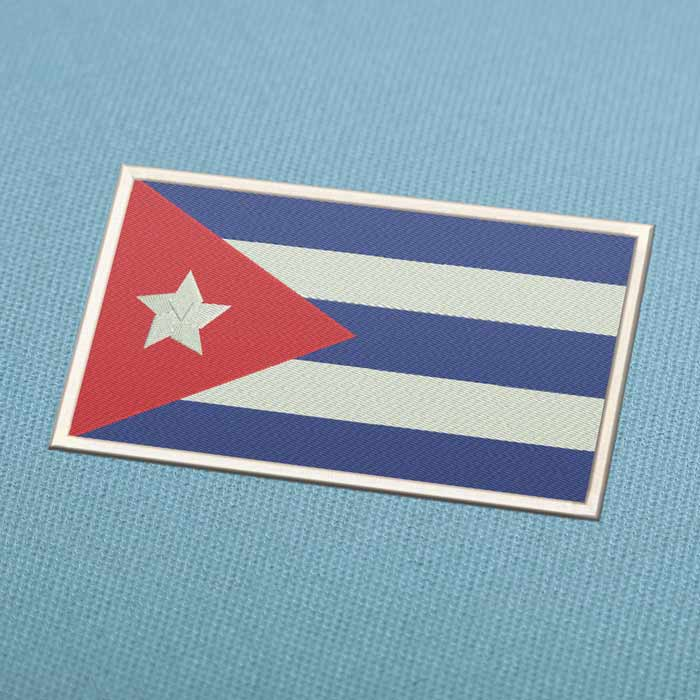 Cuba Flag Embroidery Machine Design For Instant Download