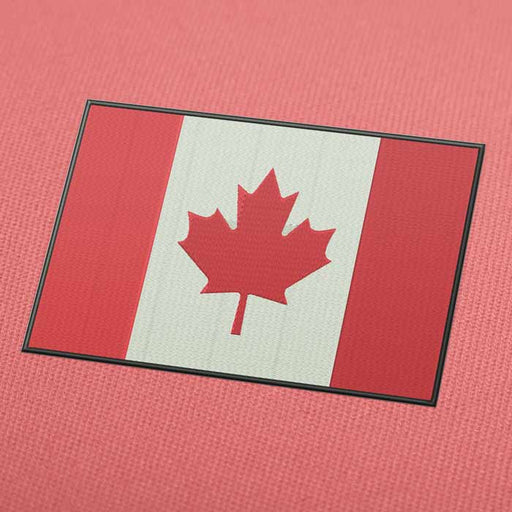 Canada Flag Embroidery Machine Design For Instant Download