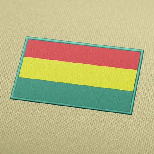 Bolivia Flag Embroidery Machine Design For Instant Download