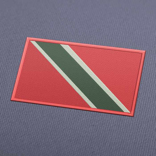 Trinidad And Tobago Flag Embroidery Machine Design - Instant Download