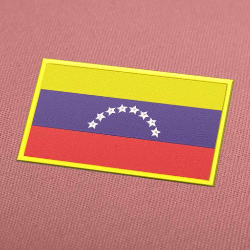 Venezuela Flag Embroidery Machine Design - Instant Download