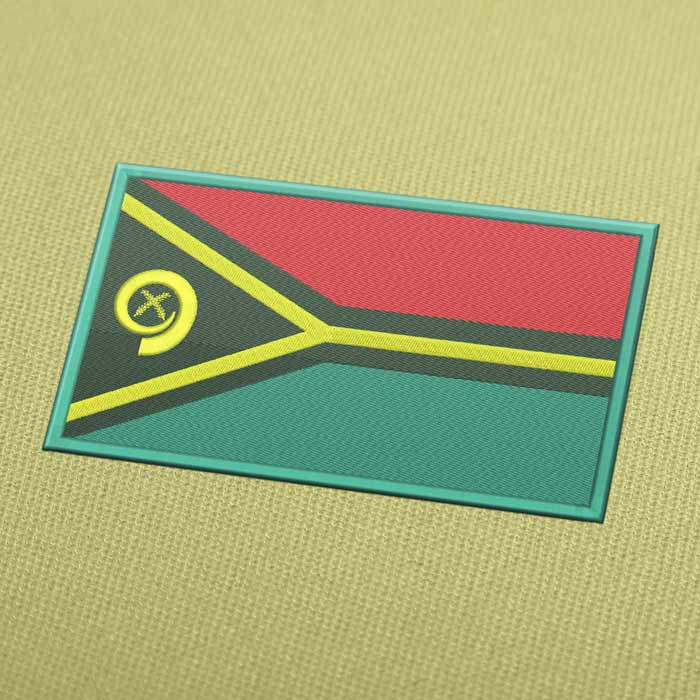 Vanuatu Flag Embroidery Machine Design - Instant Download