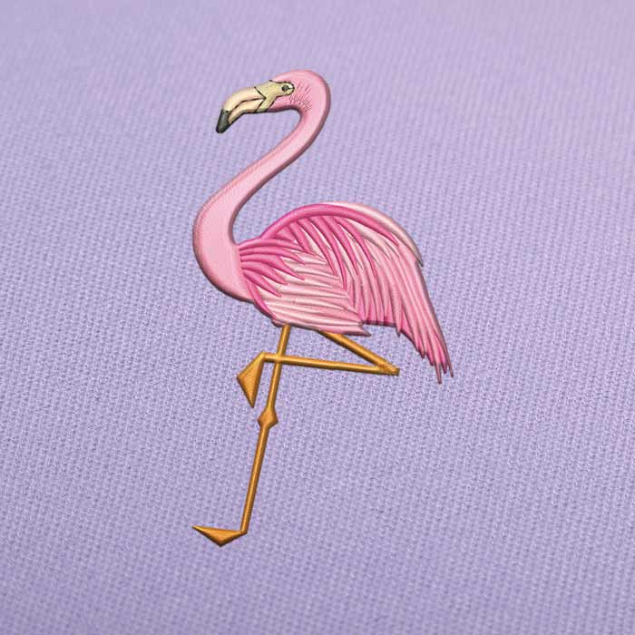Flamingo 2 Embroidery design for Instant Download