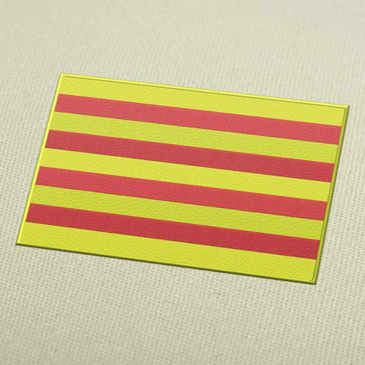 Catalunya Flag Embroidery Machine Design For Instant Download