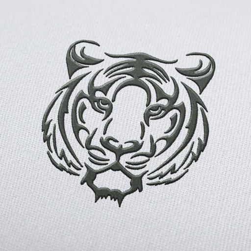 Tiger Face Embroidery design for Instant Download