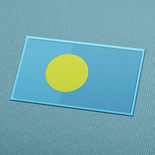 Palau Flag Embroidery Machine Design - Instant Download