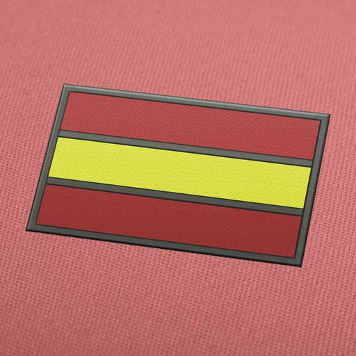 Spain Flag 2 Embroidery Machine Design - Instant Download