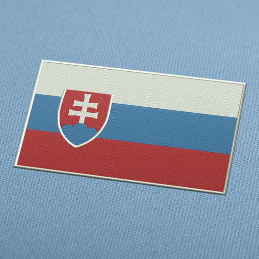 Slovakia Flag Embroidery Machine Design - Instant Download