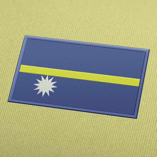 Nauru Flag Embroidery Machine Design - Instant Download