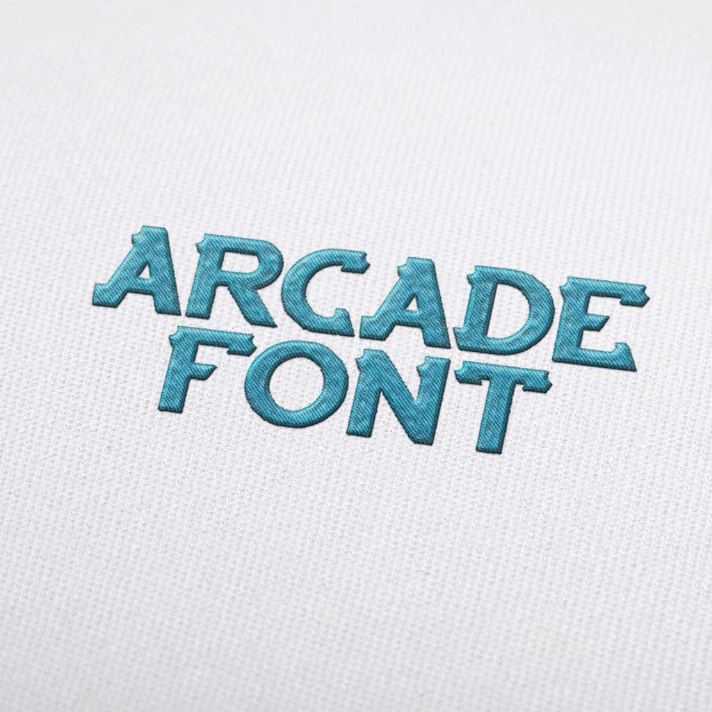 Download Arcade Embroidery Font Set Download — EmbroideryDownload
