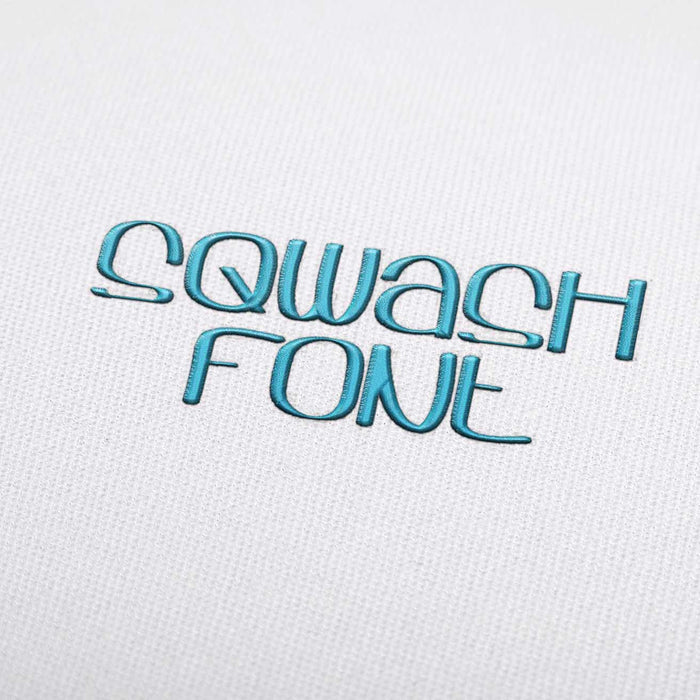 Sqwash Font - Machine Embroidery Design Fonts Download