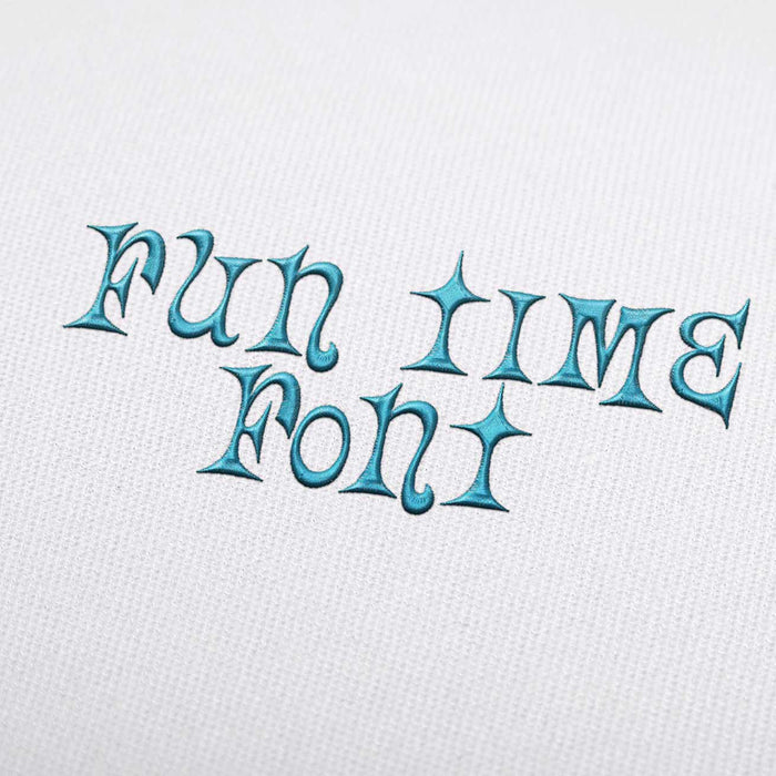 Fun Time - Machine Embroidery Design Fonts Download