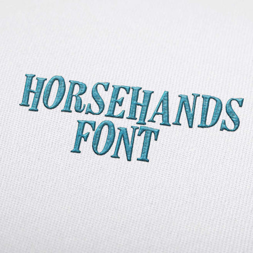 Horsehands Font - Machine Embroidery Design Fonts Download