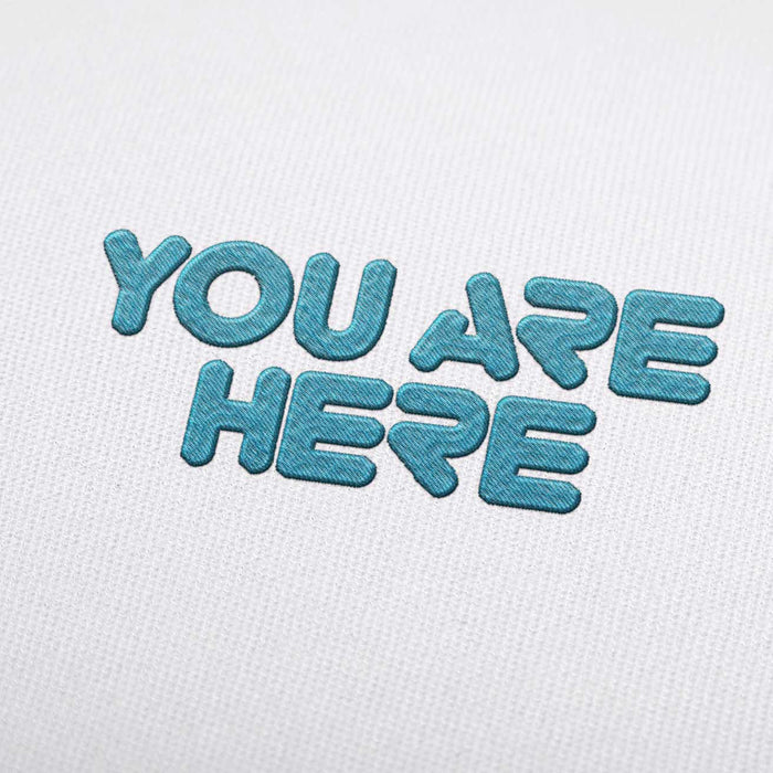 You Are Here Font - Machine Embroidery Design Fonts Download