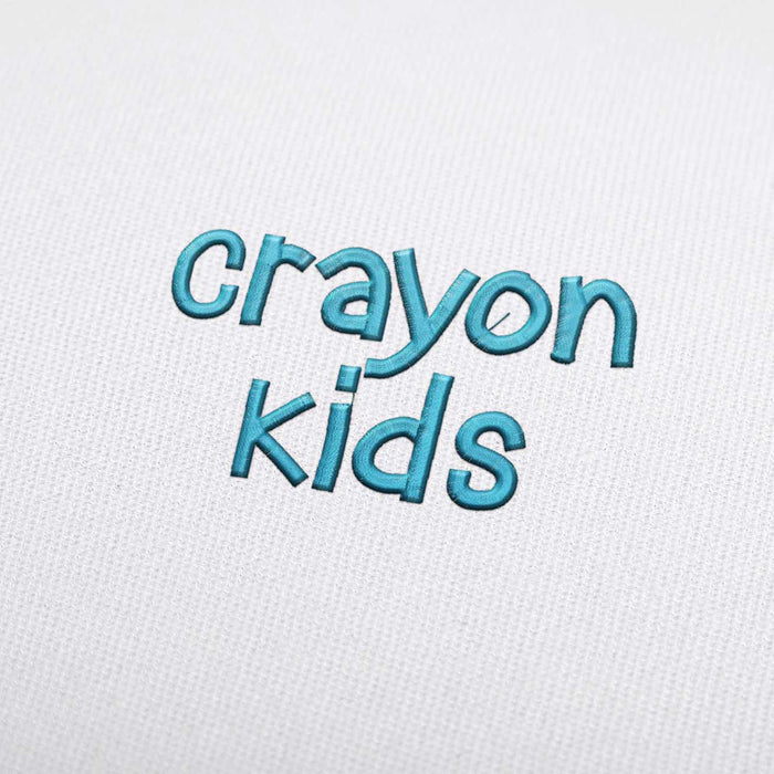 Crayon Kids - Machine Embroidery Design Fonts Download