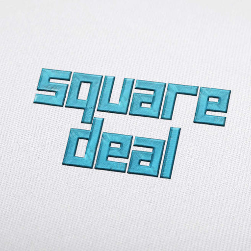 Square Deal Font - Machine Embroidery Design Fonts Download