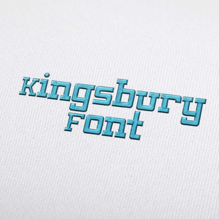 Kingsbury Font - Machine Embroidery Design Fonts Download