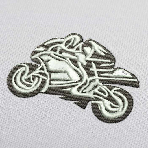 Wheelie on Motorcycle Embroidery Design for Download