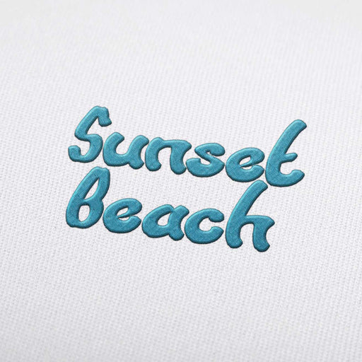 Sunset Beach - Machine Embroidery Design Fonts Download