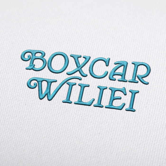 Boxcar Wiliei Font - Machine Embroidery Design Fonts Download