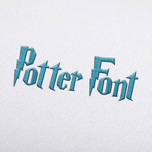 Potter - Machine Embroidery Design Fonts Download