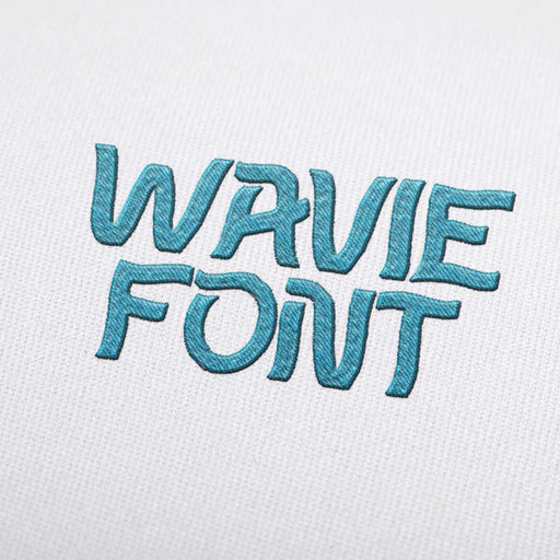 Wavie Font - Machine Embroidery Design Fonts Download
