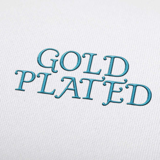Gold Plated Font - Machine Embroidery Design Fonts Download