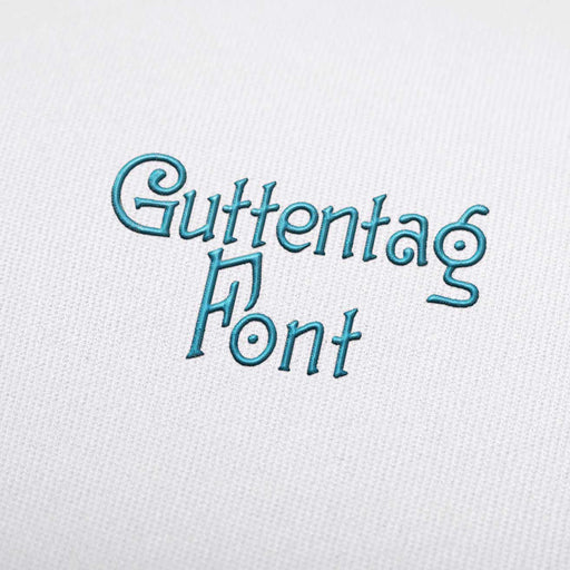 Guttentag - Machine Embroidery Design Fonts Download