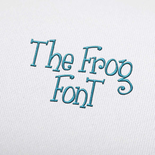 The Frog - Machine Embroidery Design Fonts Download