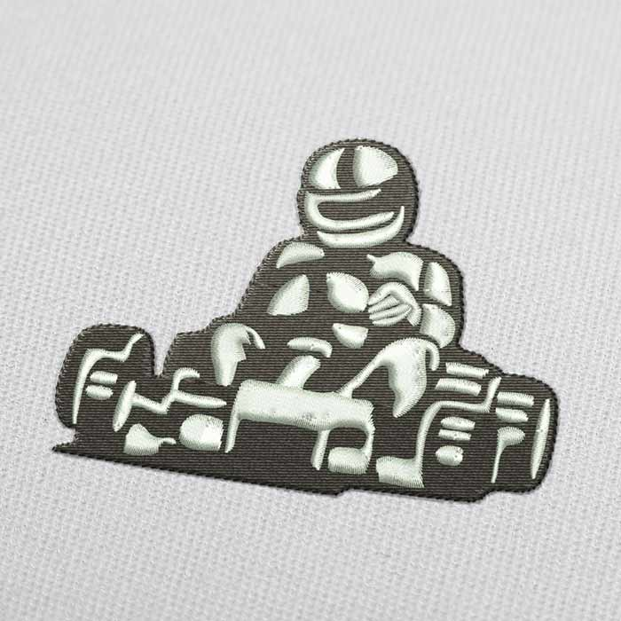 Karting Embroidery Design for Download
