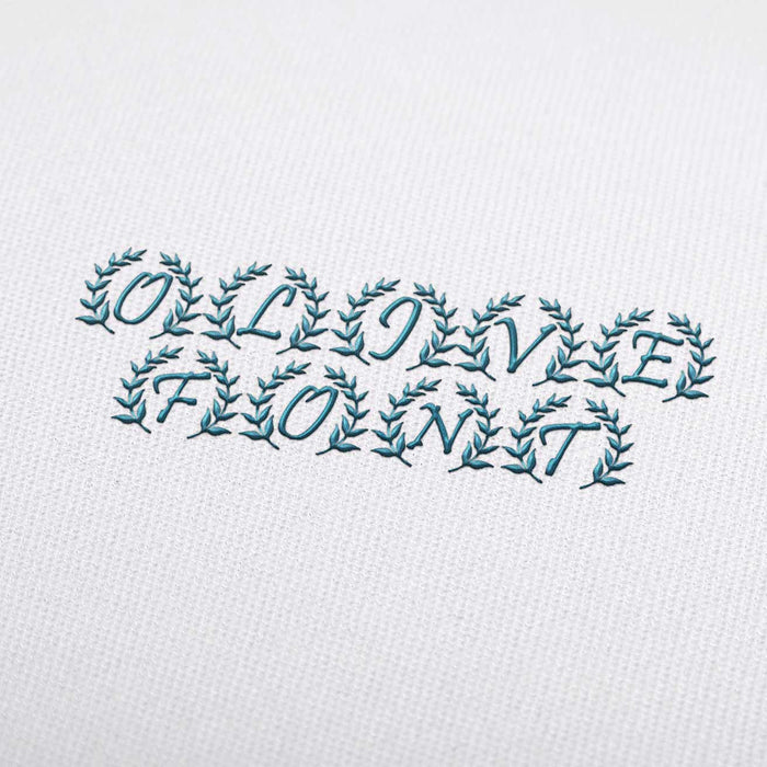 Olive - Machine Embroidery Design Fonts Download