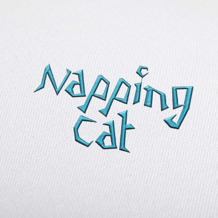 Napping Cat - Machine Embroidery Design Fonts Download