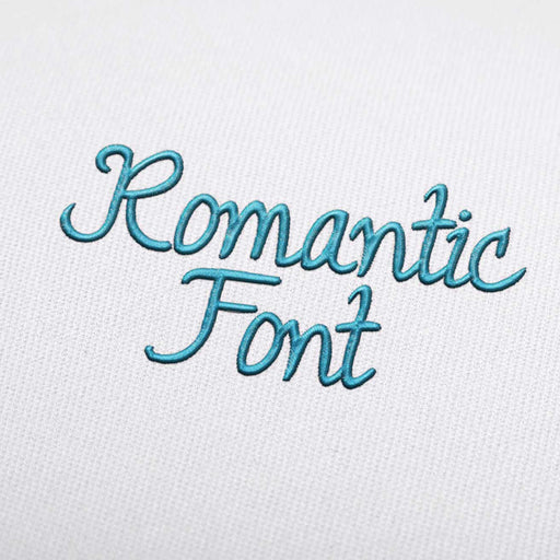 Romantic Font - Machine Embroidery Design Fonts Download
