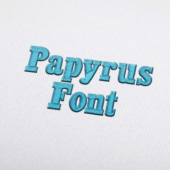 Papyrus Font - Machine Embroidery Design Fonts Download