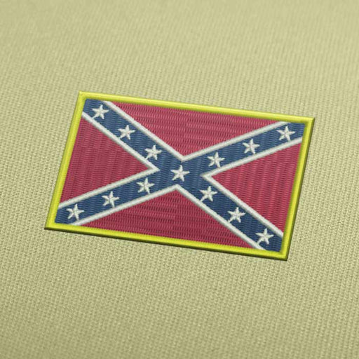 Confederate States Of America Flag Embroidery design Instant Download
