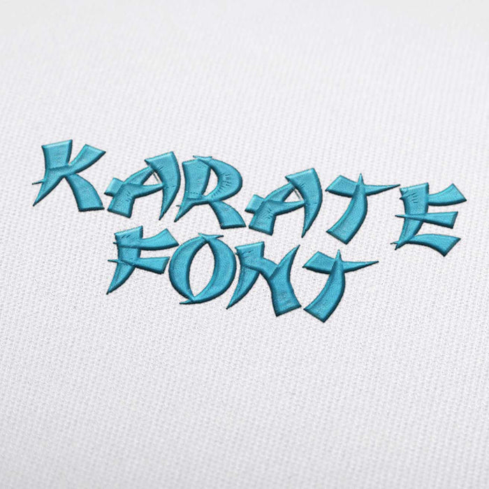 Karate Font - Machine Embroidery Design Fonts Download