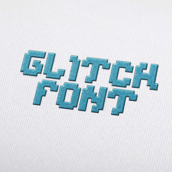 Glitch Font - Machine Embroidery Design Fonts Download
