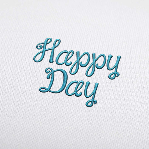 Happy Day - Machine Embroidery Design Fonts Download