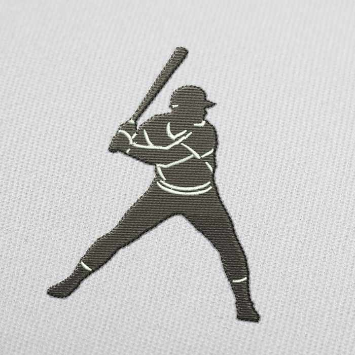 Baseball Batter Embroidery Design for Download