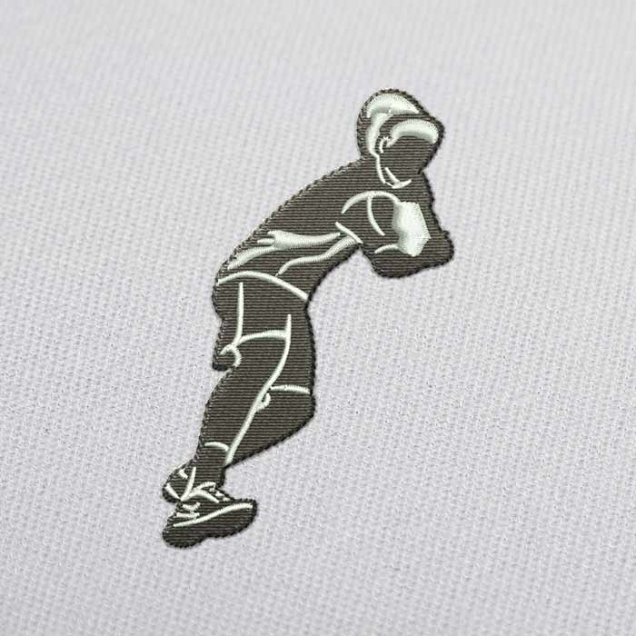 Backhand Tennis Player Embroidery Design for Download
