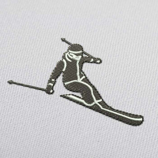 Alpine Skiing Downhill Embroidery Design for Download