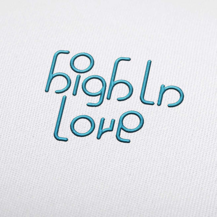 High ln Love Font - Machine Embroidery Design Fonts Download